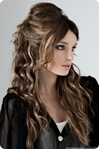 Media Cola Ondulado Peinado Cosas Bonitas Hair Styles Hair Y