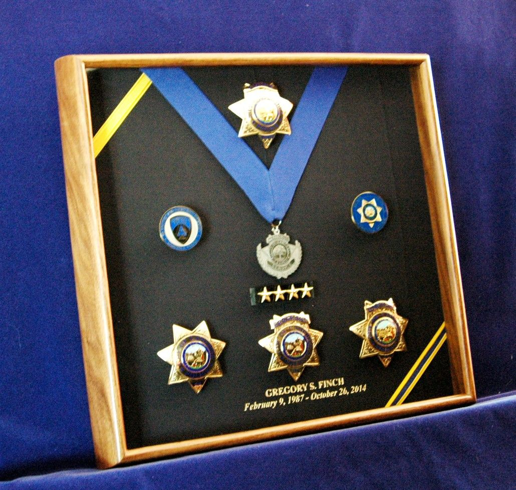 Now this is a retirement gift order a custom shadow box