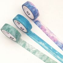 Washi+tapes+with+pattern+print+in+purple,+blue+and+green  Quantity:+1+pc+/+3+pcs Size:+15+mm(W)+x+7+m(L)