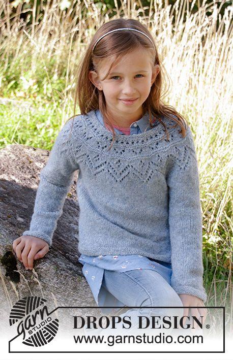 Agnes Sweater / DROPS Children 34-10 - Kostenlose Strickanleitungen von DROPS Design #gratisstrikkeoppskrifter