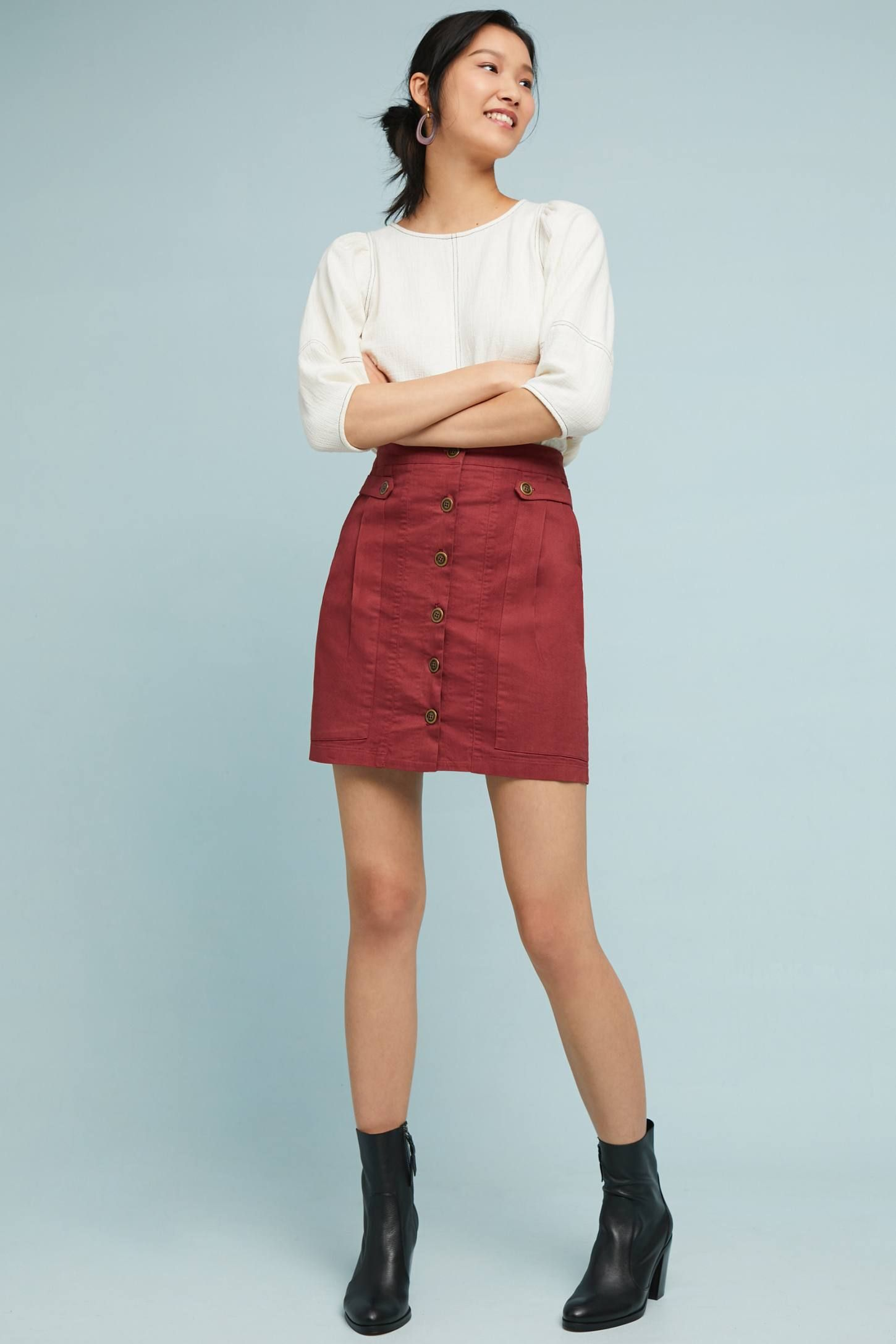 a49efbe96c Buttoned Utility Skirt | Wear What You Have | Skirts, Fashion ...