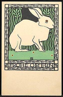 """Wiener Werkstätte, Josef Diveky, """"Frohe Ostern"""""""