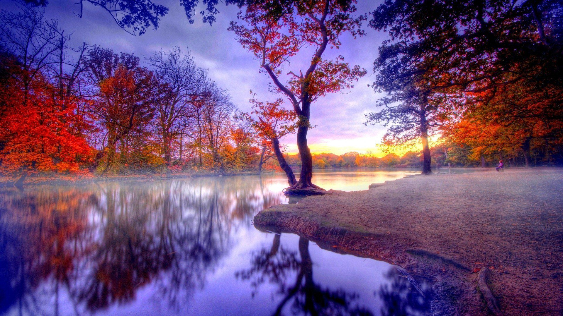 Autumn Landscape Full Hd Desktop Wallpapers 1080p Autumn Landscape Landscape Wallpaper Scenery