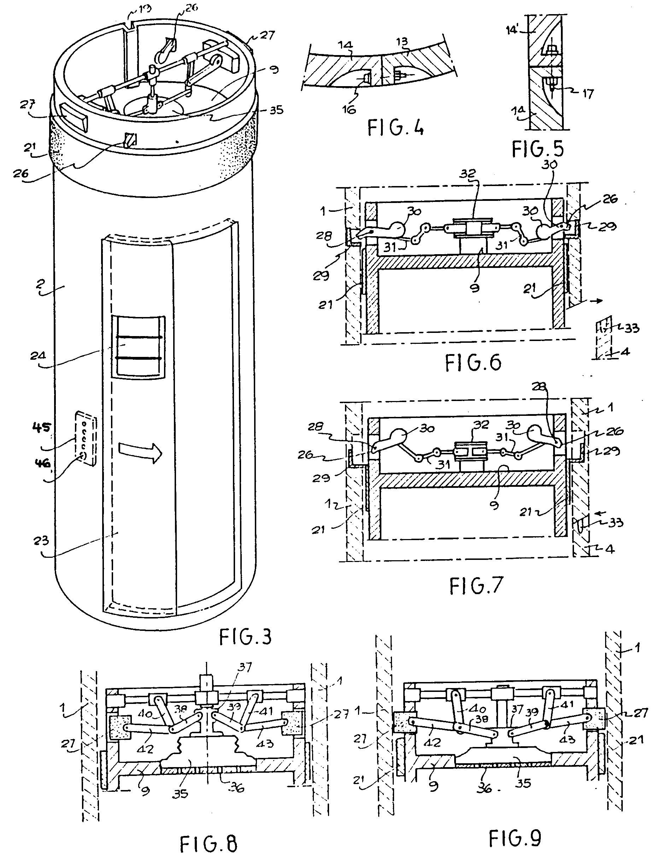 Patent ep0550904b1 pneumatic vacuum lift elevator for Elevator plan