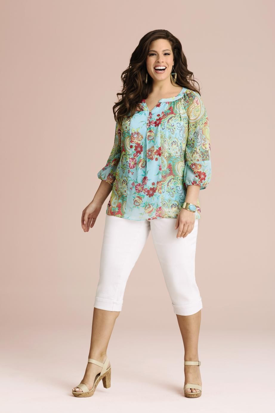 Fig Flower Floral And Paisley Print Blouse Steinmart Paisley Print Blouse Clothes Clothes For Women [ 1382 x 922 Pixel ]