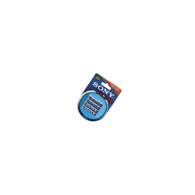 LR03/AAA SONY STAMINA PLUS Pack de 4 pilas alcalinas de alta calidad, LR03/AAA de 1,5 V.