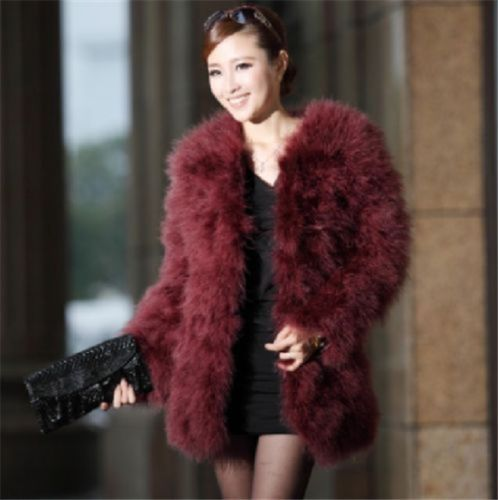 Real-Farm-Ostrich-Feather-Fur-Domestic-Turkey-fur-coat-Jacket-long-sleeve-warm