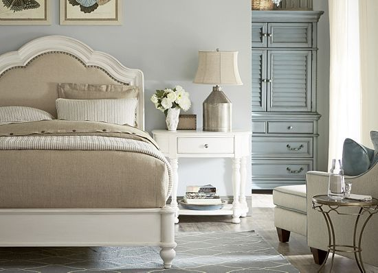Exceptional Bedrooms, Welcome Home Queen Sleigh Bed   Weathered White, Bedrooms |  Havertys Furniture