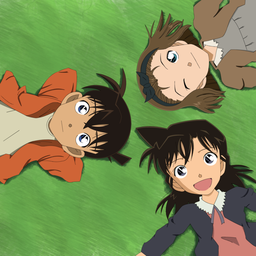 Shinichi, Ran y Sonoko. by chenchiz on DeviantArt