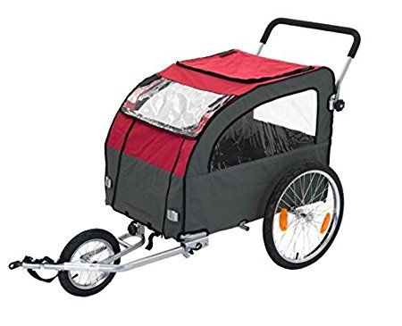 Pet Bike Trailer Dog Cat Large Bicycle Jogger Jogging Cycle Carrier Two Wheel UK