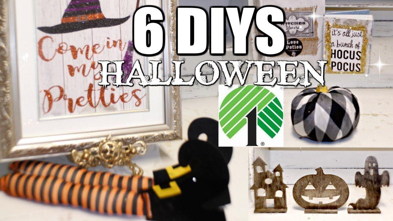"6 DIY DOLLAR TREE HALLOWEEN DECOR CRAFTS 🎃 ""I LOVE FALL"