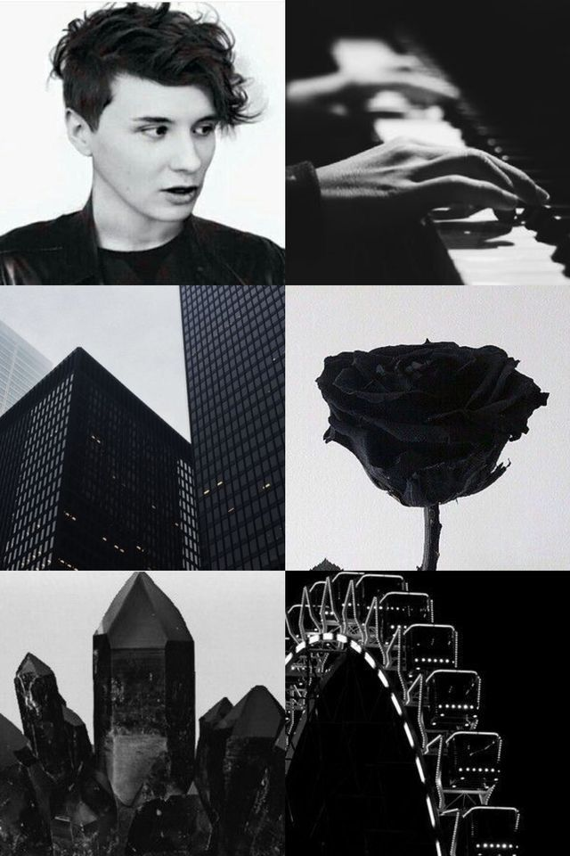 Dan Howell Black Aesthetic Bad Boy City Dweller Active Love Despiser Piano Player