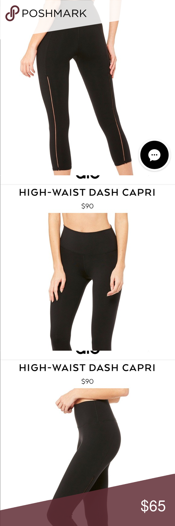 6e12fd3c817d2 Alo high waist dash capri leggings Alo high waist dash capri legging in  black. Please