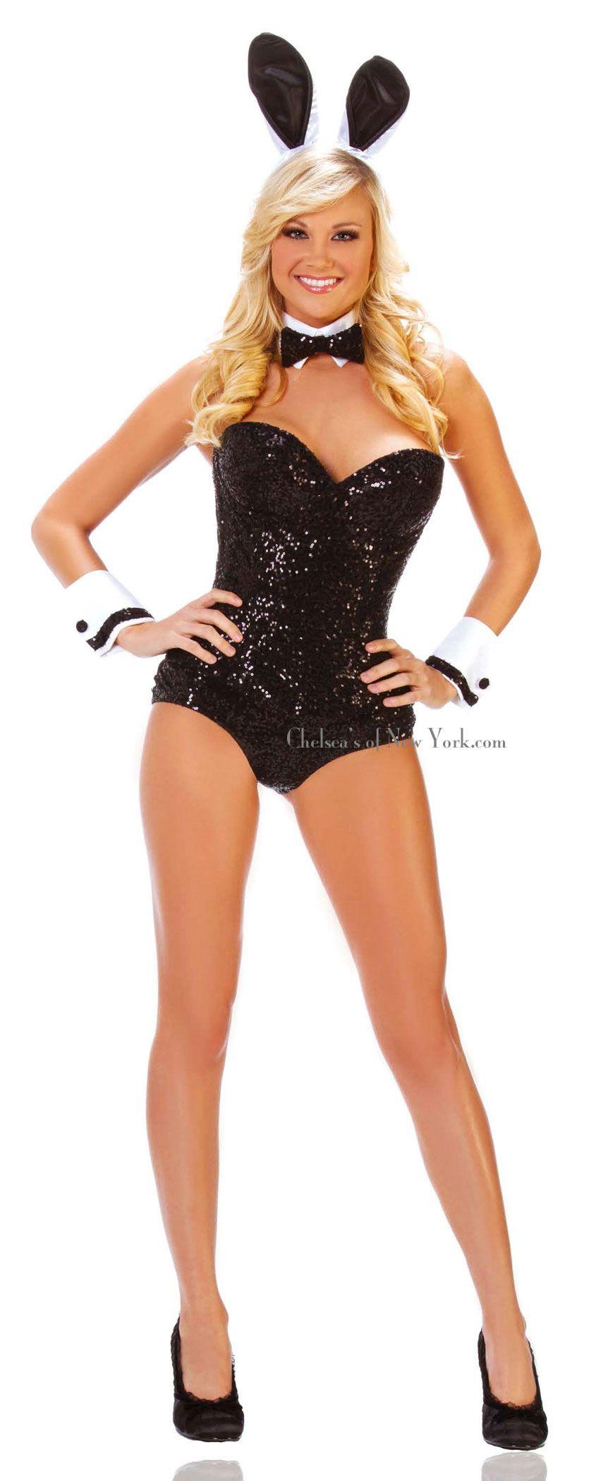 womens sexy playboy bunny adult costume set - Halloween Costumes Playboy