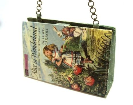 """Alice in Wonderland"" book purse. This is a cute ""Companion Book"", so on the other side, the cover is ""The Five Little Peppers""!"