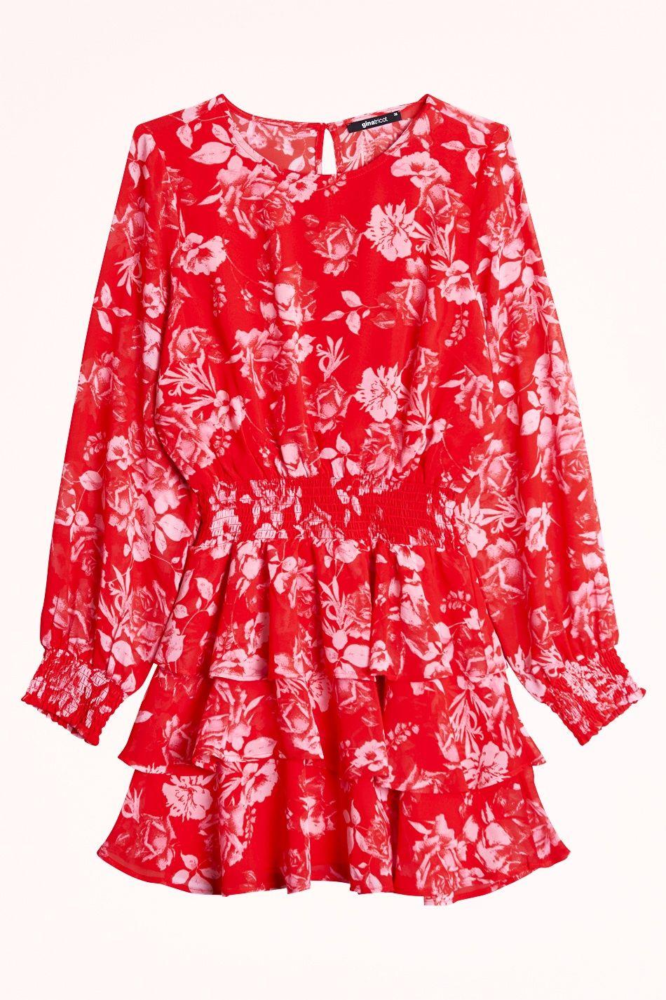 röd klänning gina tricot