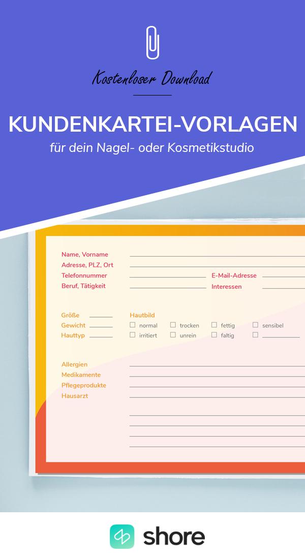 Kostenloser Download Kundenkartei Vorlage Für Dein Nagel