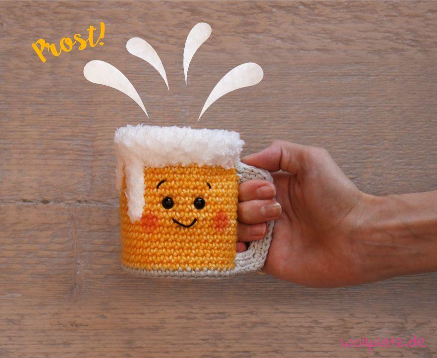Bierkrug häkeln – kostenlose Anleitung zum Oktoberfest #strickenundhäkeln An…