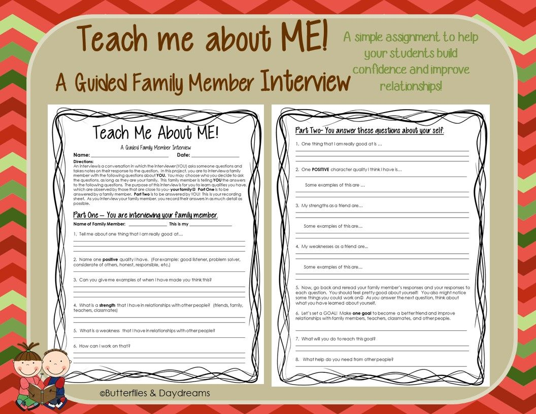 A Guided Family Member Interview To Help Students Build Confidence And Improve Relationships Teaching First Year Teaching How To Improve Relationship
