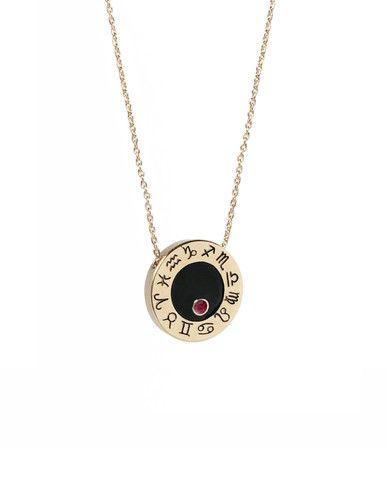 Cancer rubyzodiac birthstone wheel necklace by Me