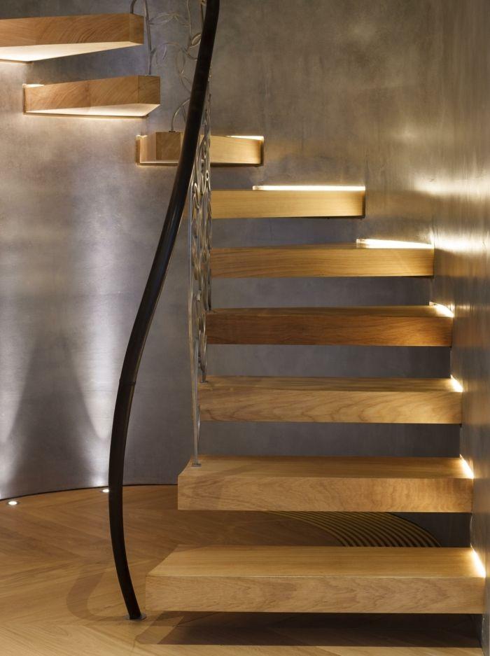 Freitragende Treppe Integrierte Beleuchtung Ideen Frisch Modern