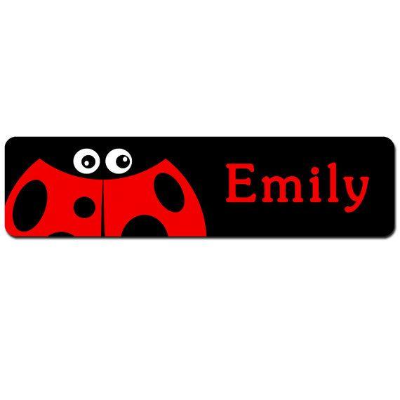 Personalised Children\u0027s Door Sign - Cute Cartoon Ladybird - Bedroom