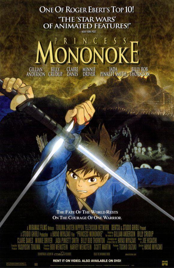 Movie Poster Princess Mononoke Anime Movies Japanese Movies