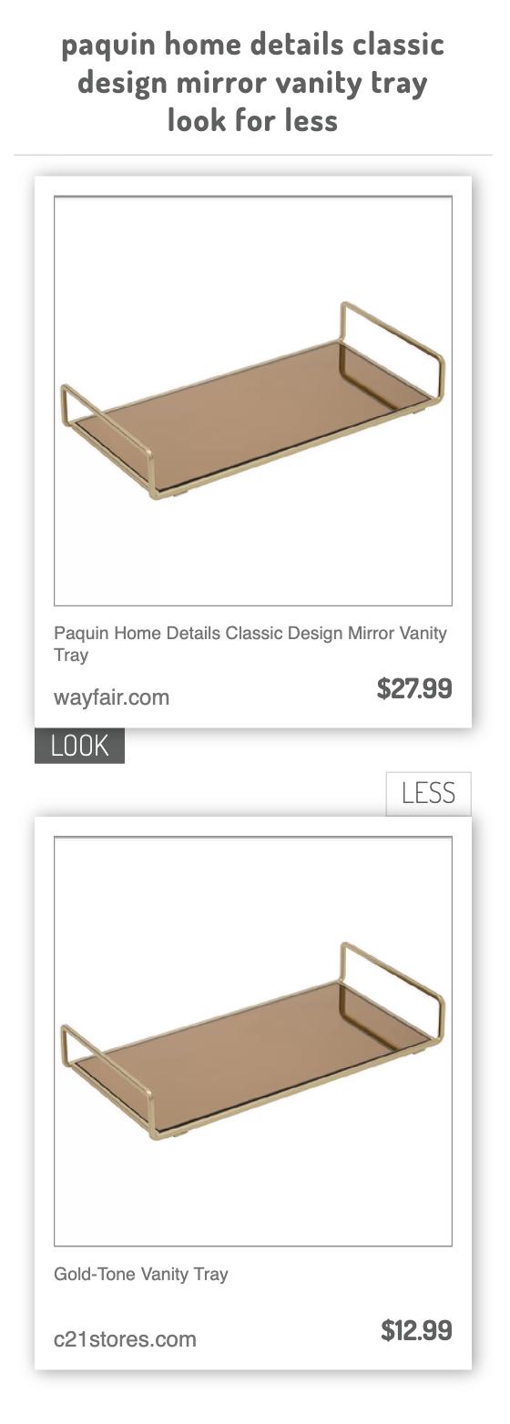 Paquin Home Details Classic Design Mirror Vanity Tray Vs Gold Tone Vanity Tray Vanity Tray Mirror Vanity Tray Vanity Mirror