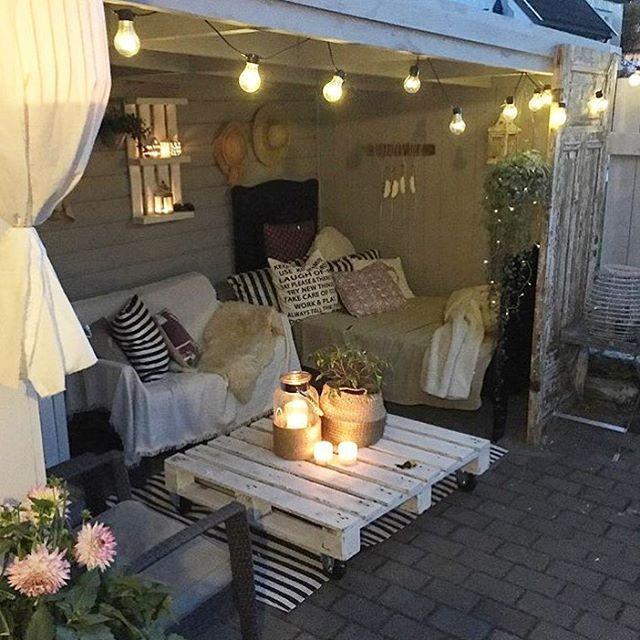 """5,809 Likes, 84 Comments - Malin Andersson (@malins_backyard) on Instagram: """" MY FAVORITE PLACE   I går flyttet et nydelig skap inn i bakgården✔️ Jeg gleder meg til å fylle…"""""""