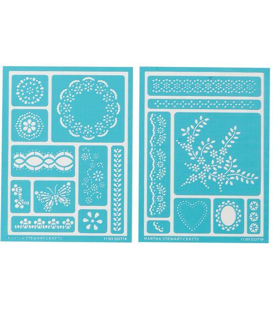 Martha Stewart Adhesive Stencils 2 Sheets/Pk-Fair Isle Dots   Fair ...
