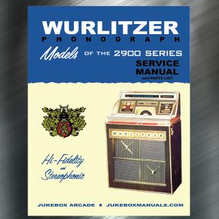 Printed Jukebox Manuals - Jukebox Arcade Wurlitzer 2900