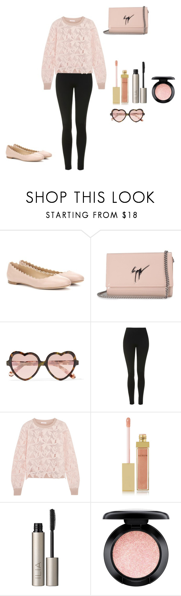 """""""V DAY"""" by mullinsnicole ❤ liked on Polyvore featuring Chloé, Giuseppe Zanotti, Cutler and Gross, Topshop, See by Chloé, AERIN, Ilia and MAC Cosmetics"""