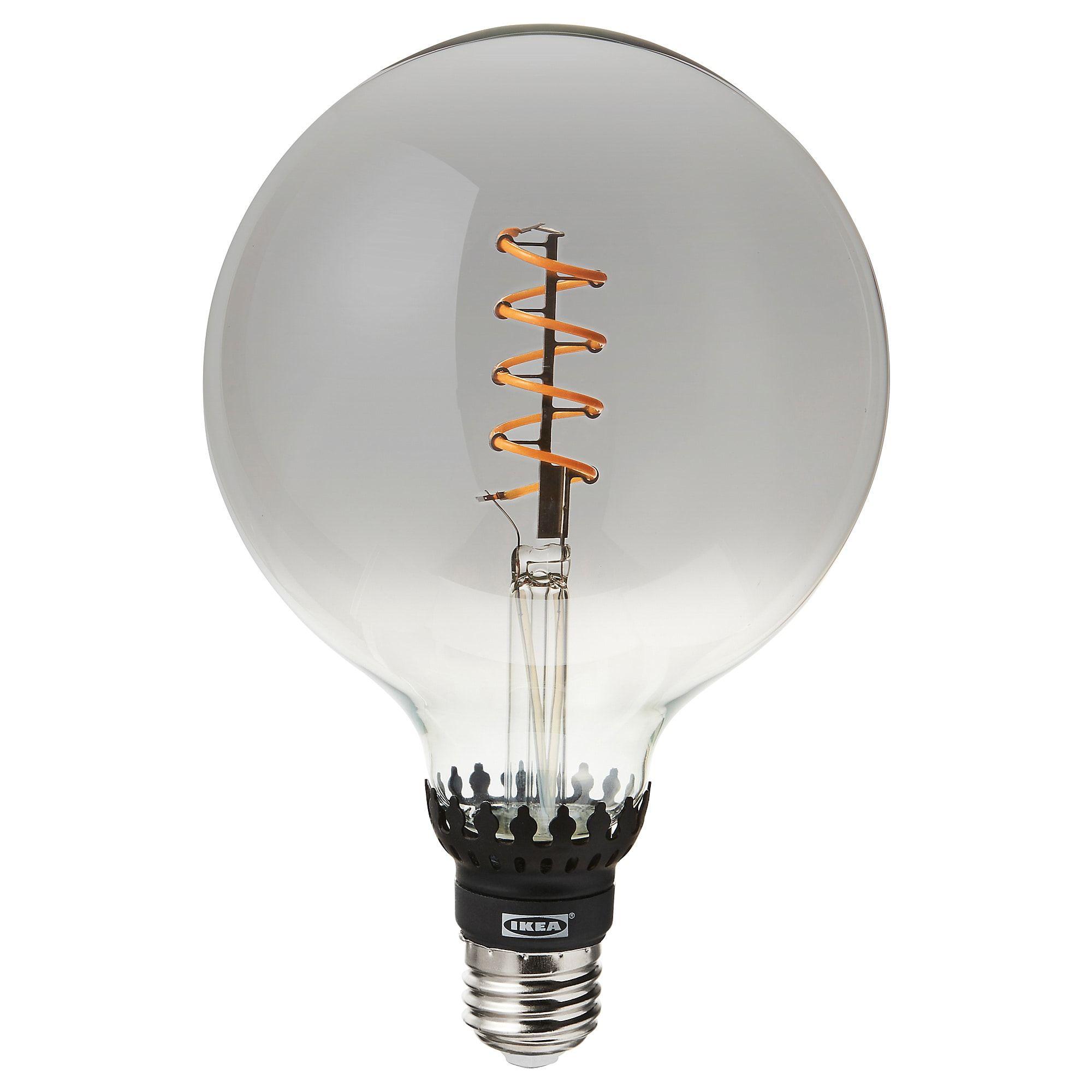 Rollsbo Led Leuchtmittel E27 200 Lm Dimmbar Rund Klarglas Grau Ikea Osterreich Lamp Bases Clear Glass Bulb