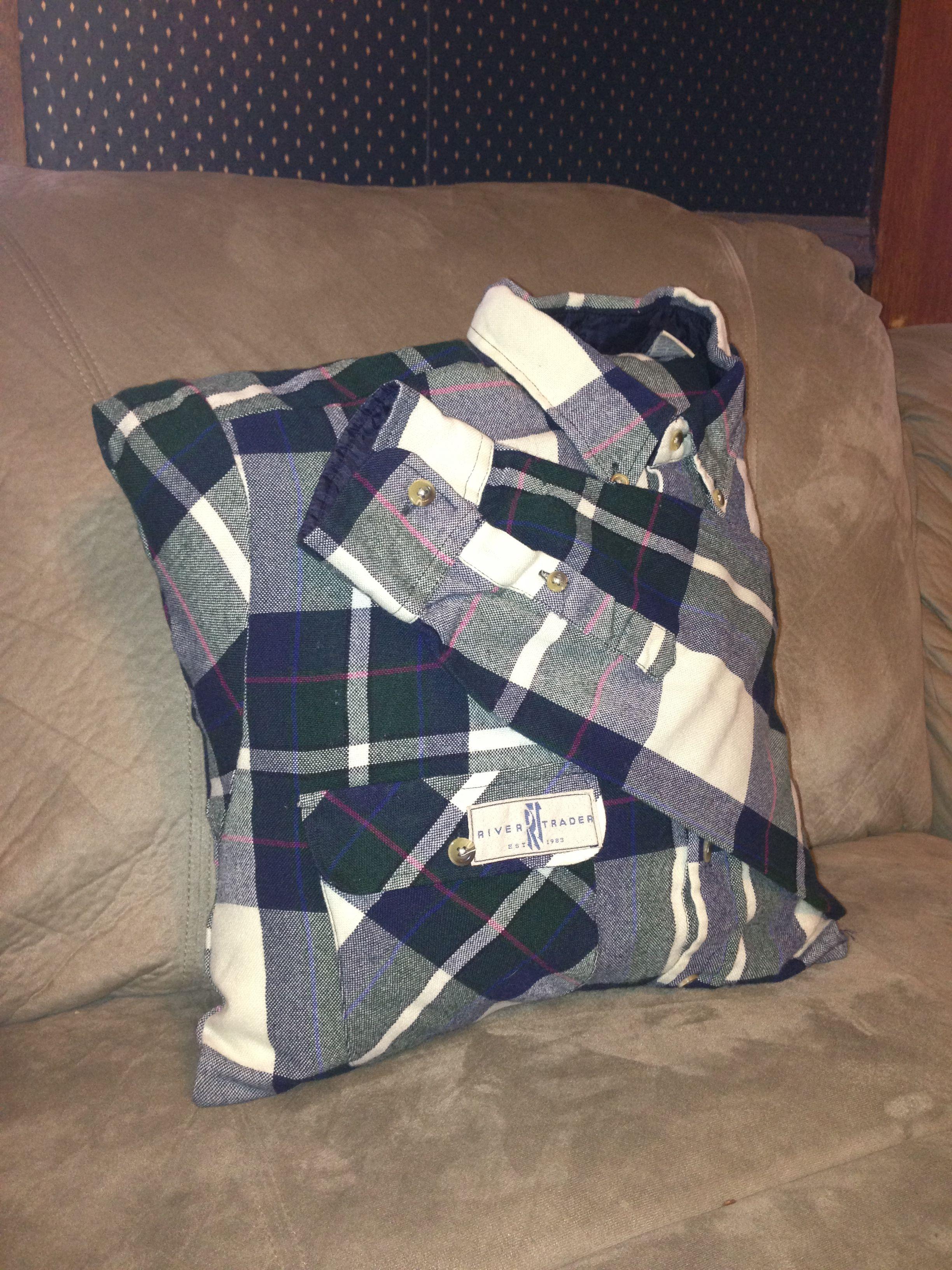 Flannel Shirt Pillow Mom Memorialize