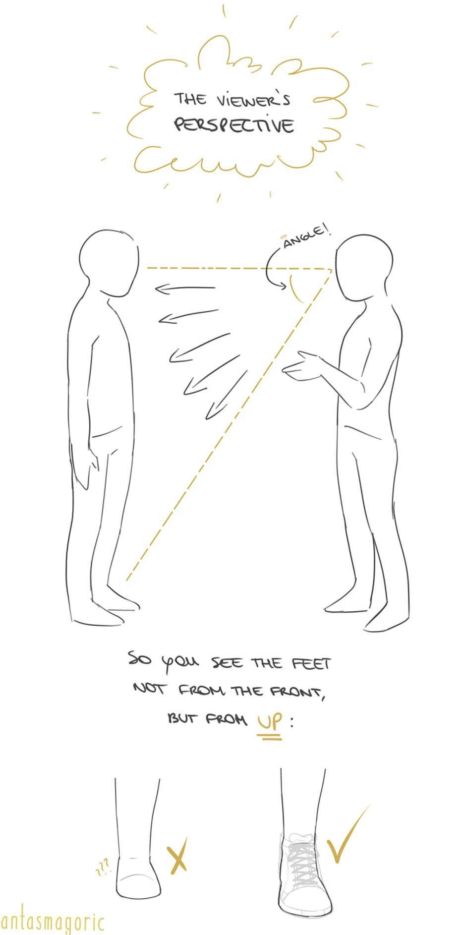 Anonymous said hi i love your art its so pretty  and you draw feet really well do you have any tips Answer thank you a lot anon  w here i made a few notes about the steps i follow