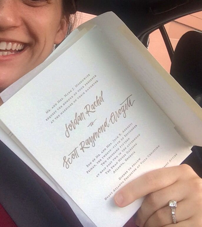 Wedding bells for Jordan & Sweet Scott!!