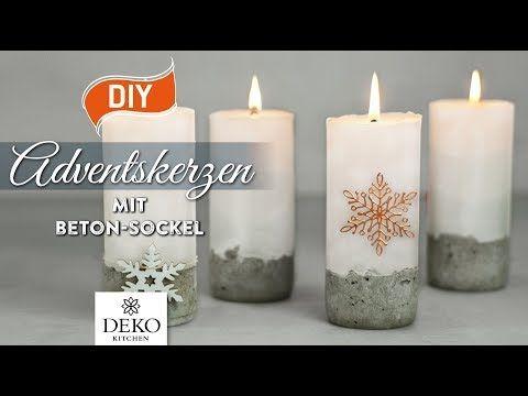 1 Diy Stylische Adventskerzen Mit Betonsockel How To
