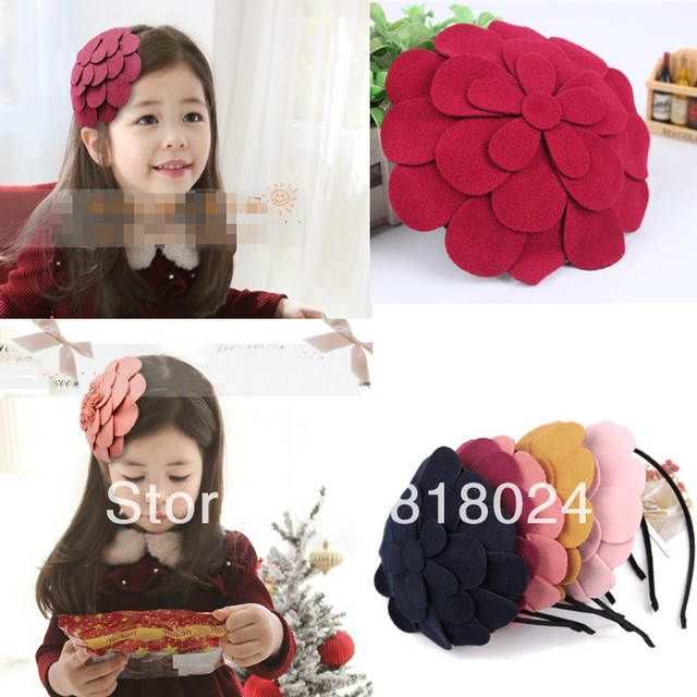 1pc 10 Colors Retail 2014 New Big Felt Flower Children Women Girls Hair Accessories Kids Hairbands Hair Bows Headband #kidshairaccessories