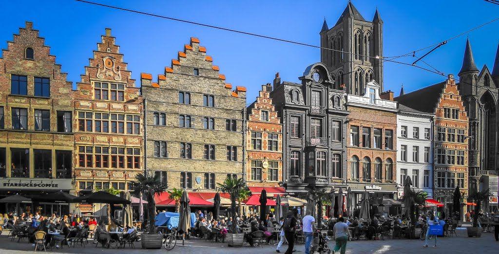 Korenmarkt in de zomer @Gent