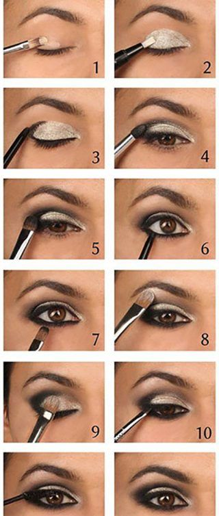 How to do smokey eye makeup? Top 10 tutorial pictures for 2018.