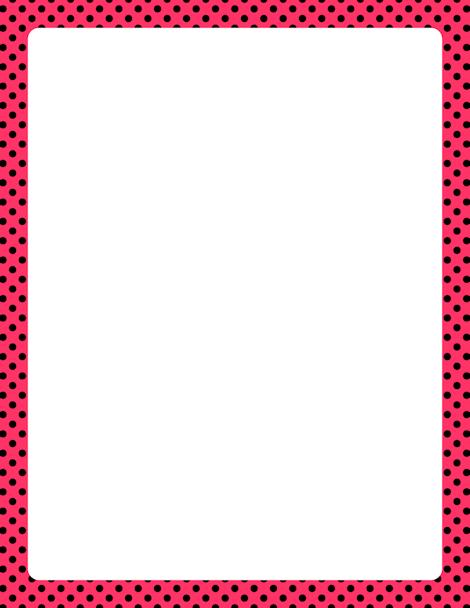 printable pink and black polka dot border free gif jpg pdf and rh pinterest co uk black and white polka dot border clip art free