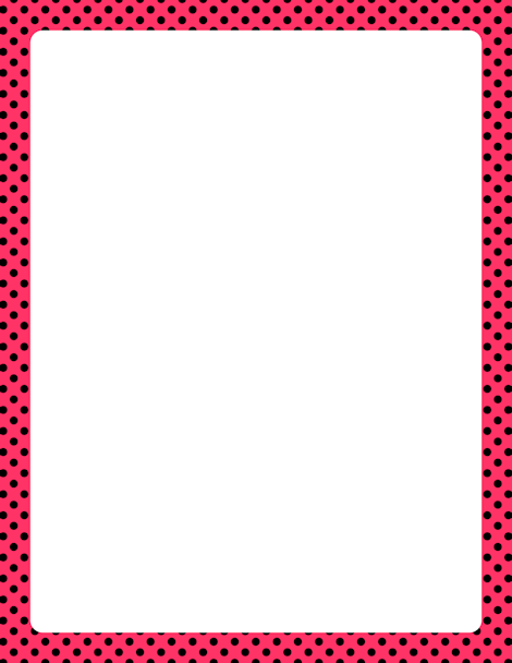 printable pink and black polka dot border free gif jpg pdf and rh pinterest com au free blue polka dot border clip art