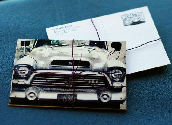 1957 GMC Pickup Truck - 4 4x6 Handmade Postcards, Classic, Vintage Car, Typewriter via1957 GMC Pickup Truck - 4 4x6 Handmade Postcards, Classic, Vintage Car, Typewriter https://www.etsy.com/listing/125661707/1957-gmc-pickup-truck-4-4x6-handmade Etsy