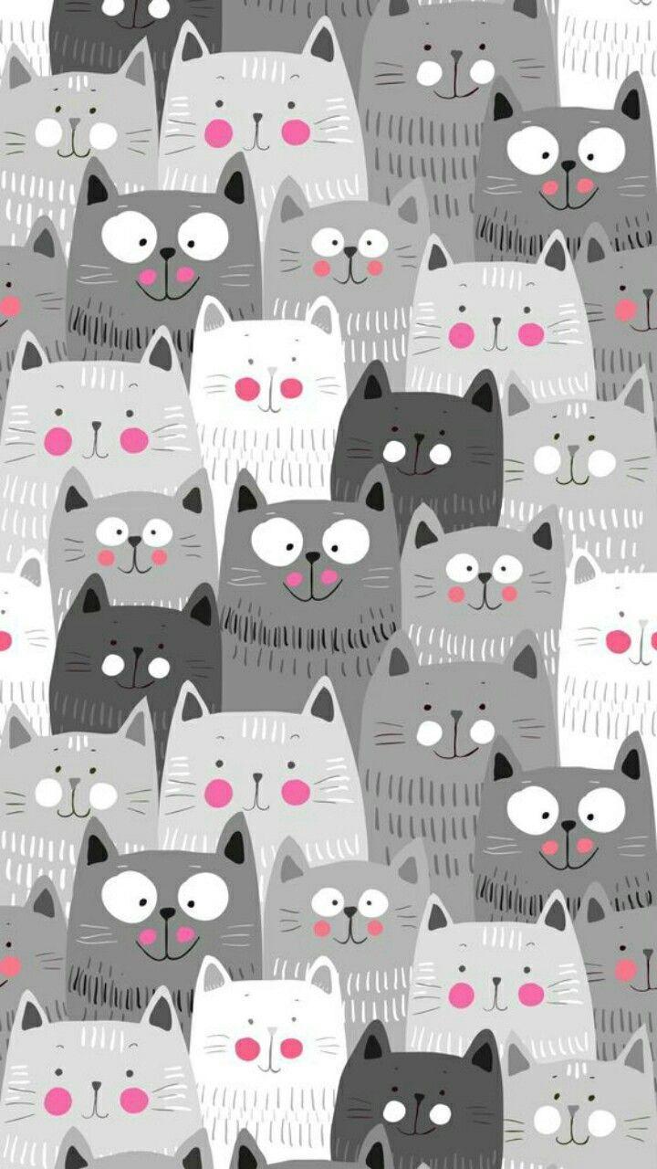 Katzen Fondecran Katzen Mustertapete Katzen Tapeten Iphone