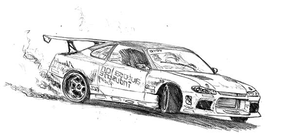 King Of Drifting Cars Coloring Pages Kids Play Color Race Car Coloring Pages Cars Coloring Pages Drifting Cars