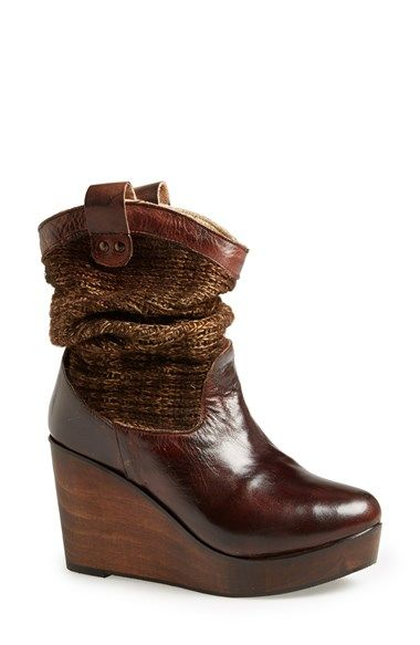 Free shipping and returns on Bed Stu 'Bruges' Bootie at Nordstrom.com. Sometimes you have to look back to move your fashion forward. This Western-influenced bootie combines a sweater-like shaft with a heavily distressed leather vamp and a wooden wedge, juxtaposing classic elements with cutting-edge eclecticism.