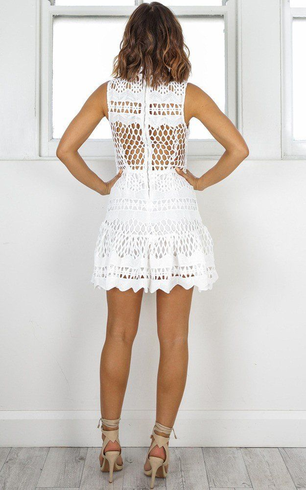 Showpo Hail The Queen dress in white crochet - 10 (M) Party Dresses ...
