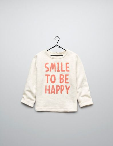 velour sweater with text - Cardigans and sweaters - Baby girl (3-36 months) - Kids - ZARA