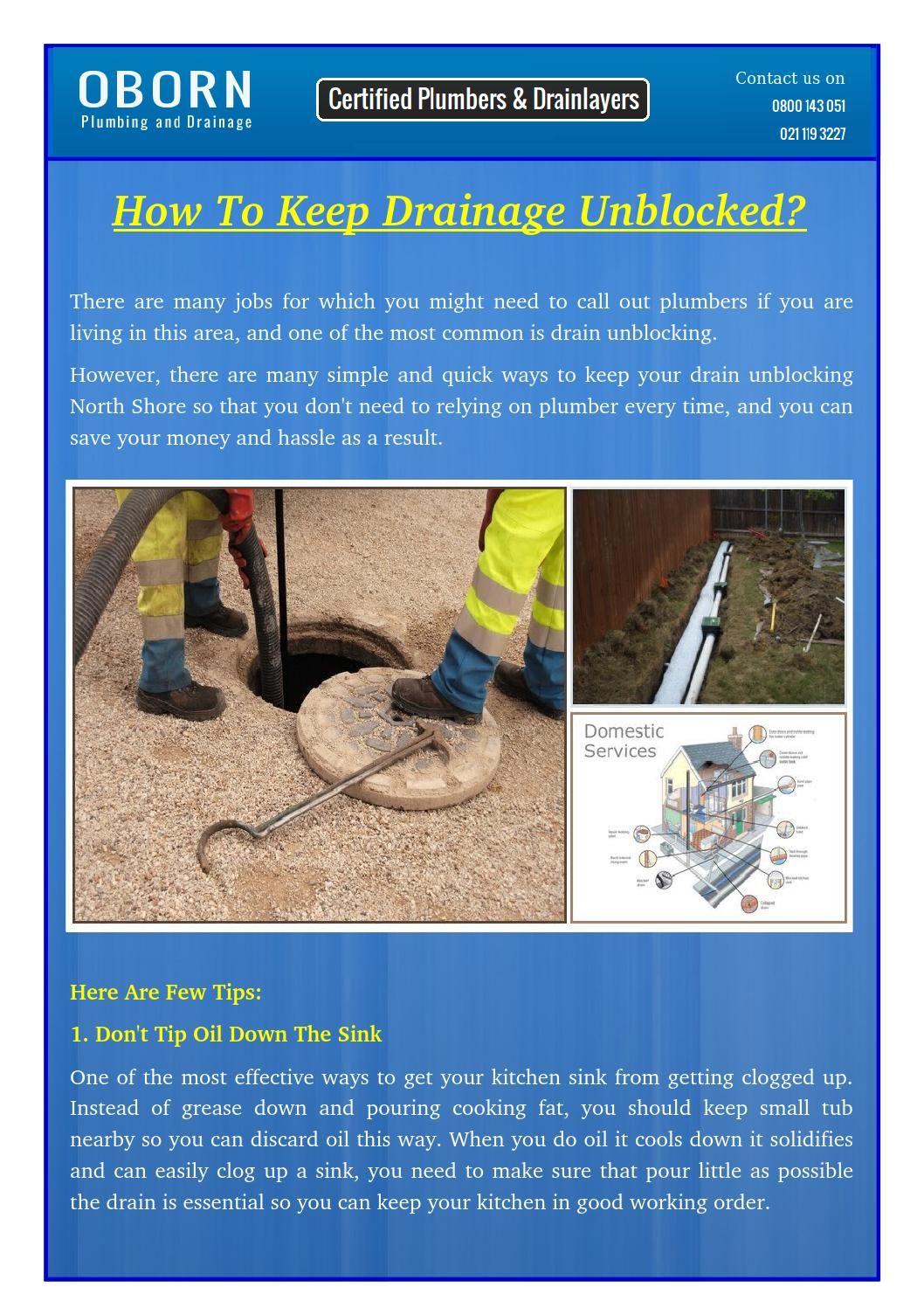 How To Keep Drainage Unblocked Drainage, Plumber, Plumbing