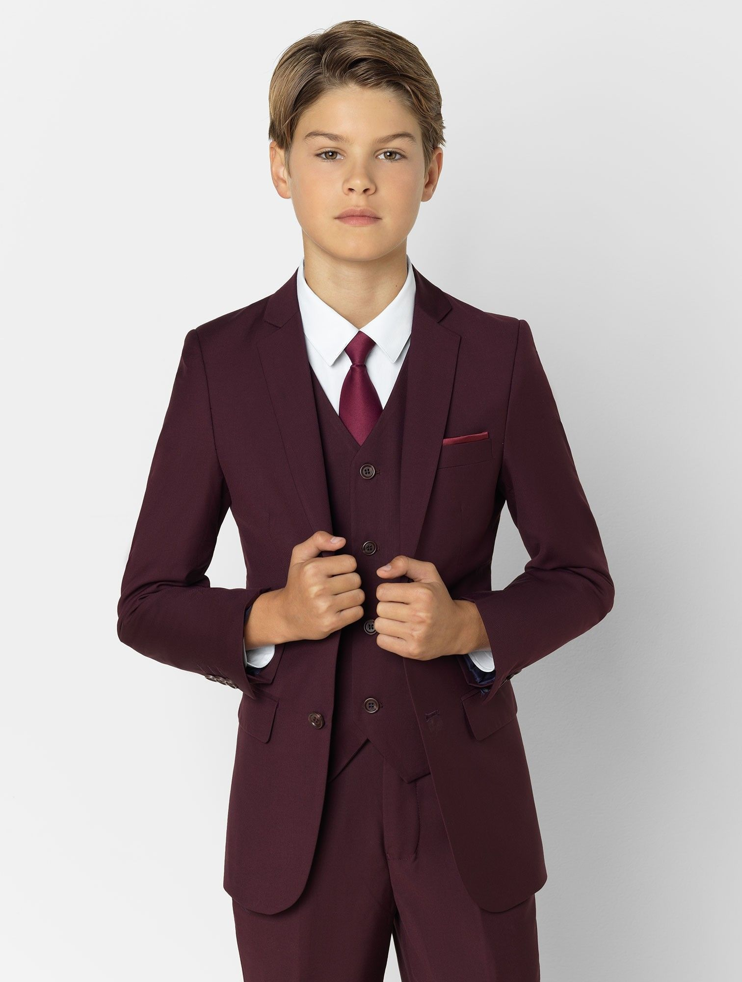 Boys burgundy suit Soho in 2020 Burgundy suit, Navy